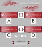 Современное infographic знамя варианта Стоковое фото RF
