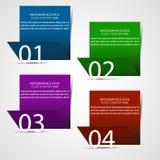 Современное infographic знамя варианта Стоковое Изображение
