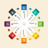 Современное infographic знамя с линией шаблоном дизайна вектор Стоковые Изображения
