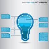 Современное infographic с электрической лампочкой Стоковое Фото