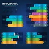Современное infographics диаграммы турника Творческий, infographic Стоковые Изображения