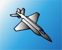 Современное milliary летание самолета воздуха на голубом небе Современная иллюстрация вектора изолированная на голубой предпосылк иллюстрация вектора