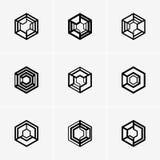 Современные абстрактные логотип вектора или дизайн элемента Самое лучшее для идентичности и логотипов Стоковая Фотография