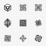 Современные абстрактные логотип вектора или дизайн элемента Самое лучшее для идентичности и логотипов Стоковое Фото