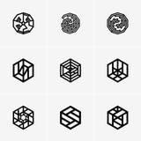 Современные абстрактные логотип вектора или дизайн элемента Самое лучшее для идентичности и логотипов Стоковое Изображение RF