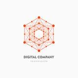 Современные абстрактные логотип вектора или дизайн элемента Самое лучшее для идентичности и логотипов Простая форма Стоковое Фото