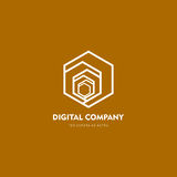 Современные абстрактные логотип вектора или дизайн элемента Самое лучшее для идентичности и логотипов Простая форма Стоковые Изображения