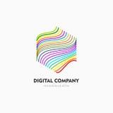 Современные абстрактные логотип вектора или дизайн элемента Самое лучшее для идентичности и логотипов Простая форма Стоковые Фото