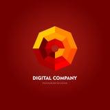 Современные абстрактные логотип вектора или дизайн элемента Самое лучшее для идентичности и логотипов Простая форма Стоковое фото RF