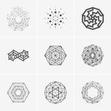 Современные абстрактные логотип вектора или дизайн элемента Самое лучшее для идентичности и логотипов Простая форма Стоковые Фотографии RF
