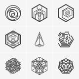 Современные абстрактные логотип вектора или дизайн элемента Самое лучшее для идентичности и логотипов Простая форма Стоковое Изображение