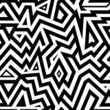 Современные безшовные смешанные линии предпосылка для дизайна ткани Стоковая Фотография RF