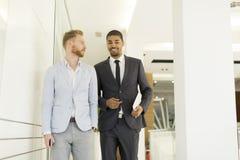Современные бизнесмены в офисе Стоковое Фото