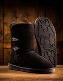 Современные ботинки замши зимы Стоковая Фотография RF