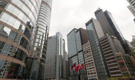 Современные дело и финансовый центр Гонконг Стоковые Фото