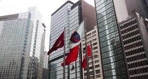 Современные дело и финансовый центр Гонконг Стоковые Изображения