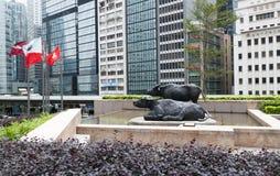 Современные дело и финансовый центр Гонконг Стоковые Изображения RF