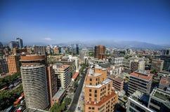 Современные жилые дома и квартиры в городском Сантьяго, Чили Стоковое Изображение