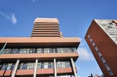 Современные здание и жилой квартал университета Стоковые Фото