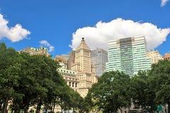 Современные здания небоскреба в городе Нью-Йорка Стоковые Изображения
