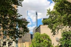 Современные здания небоскреба в городе Нью-Йорка Стоковое Изображение RF