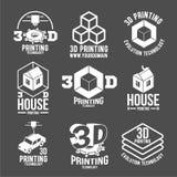Современные значки, логотипы и значки принтера Стоковое Изображение RF