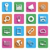 Современные значки маркетинга интернета Стоковые Изображения