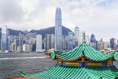Современные здания в районе финансов Гонконга Стоковое фото RF