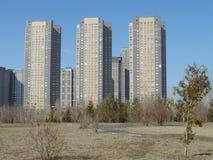 Современные здания - жилой квартал Стоковое фото RF