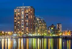 Современные здания на набережных Salford в Манчестере Стоковые Фото