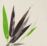 Современные листья бамбука Стоковые Фото