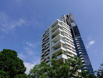 Современные квартиры в центре города в Сингапуре Стоковое Фото