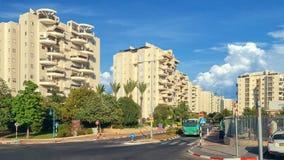 Современные кондоминиумы с полукруглыми балконами Стоковое Изображение RF