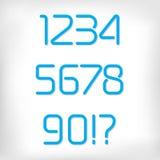 Современные минимальные округленные установленные номера алфавита шрифта Стоковая Фотография RF