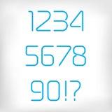 Современные минимальные округленные установленные номера алфавита шрифта Стоковое Фото