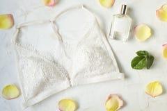 Современные модные ищут стильное lookbook блога моды Плоское положение стильной одежды для кассеты женщины Стоковые Изображения RF