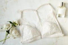Современные модные ищут стильное lookbook блога моды Плоское положение стильной одежды для кассеты женщины Стоковая Фотография RF