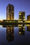 Современные набережные Манчестер salford архитектуры Стоковые Изображения RF