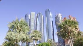 Современные небоскребы в Абу-Даби, сток-видео