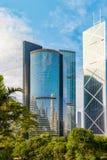 Современные небоскребы в городском районе Гонконга Стоковые Изображения