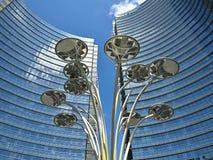 Современные небоскребы в Милане в Италии стоковые изображения rf