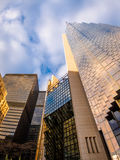 Современные небоскребы в финансовом районе городского Торонто - Онтарио, Канады Стоковая Фотография RF