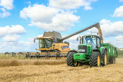 Современные новые урожаи вырезывания жатки зернокомбайна Голландии Стоковое Фото