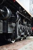 Современные локомотивные колеса стоковое фото rf