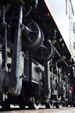 Современные локомотивные колеса стоковая фотография