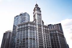Современные офисные здания. Дно вверх по взгляду. Чикаго Стоковые Фото