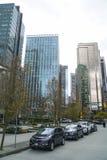 Современные офисные здания на квадрате портового района Ванкувера - ВАНКУВЕРЕ - КАНАДЕ - 12-ое апреля 2017 Стоковое фото RF