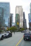 Современные офисные здания на квадрате портового района Ванкувера - ВАНКУВЕРЕ - КАНАДЕ - 12-ое апреля 2017 Стоковые Фото