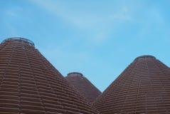 Современные пирамиды и голубое небо Стоковое Изображение