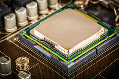 Современные процессор и материнская плата Стоковые Изображения RF